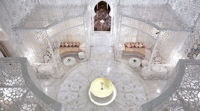 The Royal Mansour hotel in Marrakesh