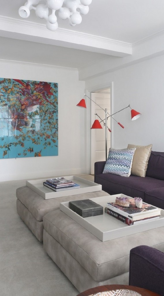 Upper East Side, NY with Sinatra Floor Lamp and Atomic Ceiling Lamp by DelightFULL
