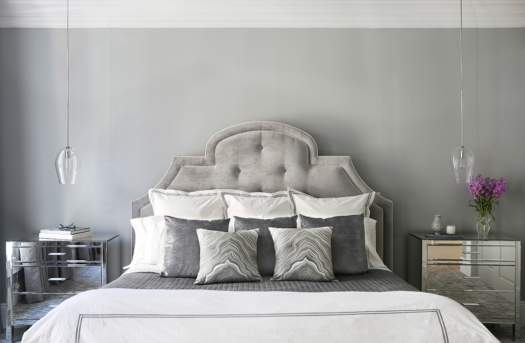 New York City Townhouse Master Bedroom Design by Vaness Rome