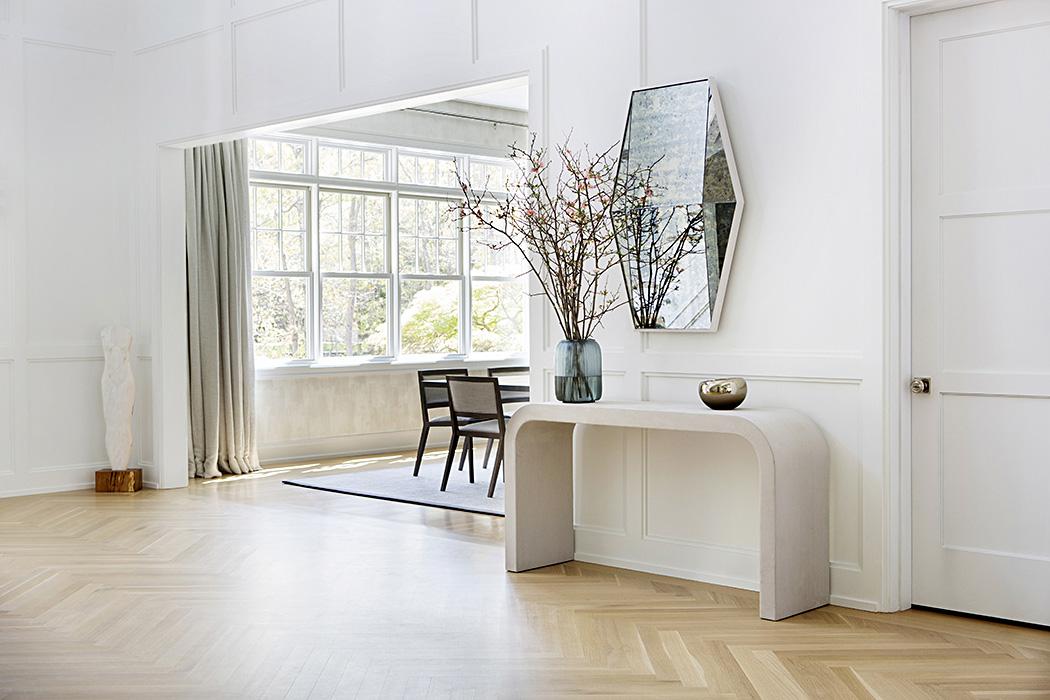 Southampton home foyer interior design