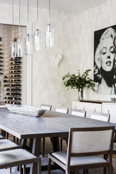 Southampton home dining room interior design