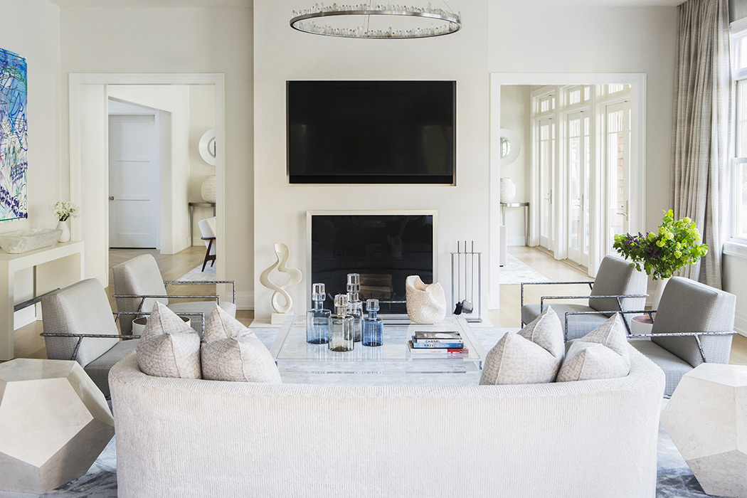 Living room in neutrals