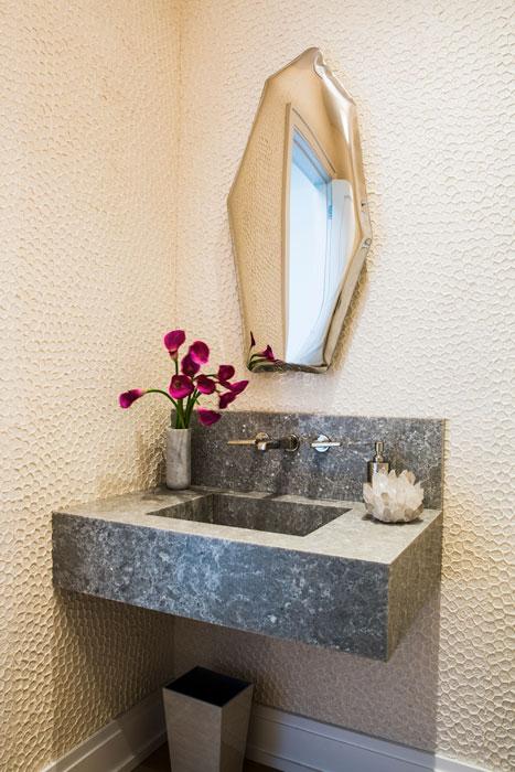 Southampton residence powder room interior design
