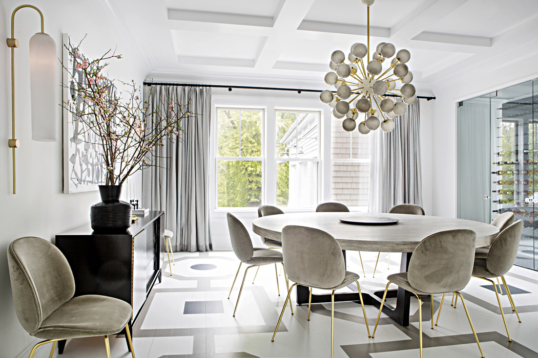 Interior Design of Watermill dining room by Vanessa Rome