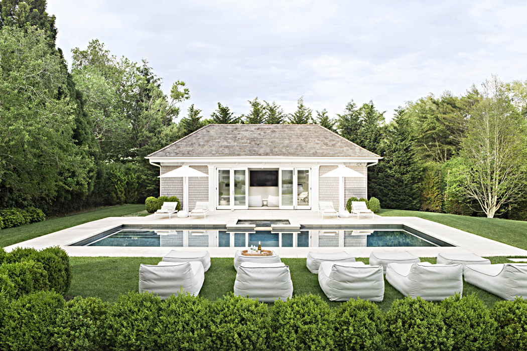 View of pool house