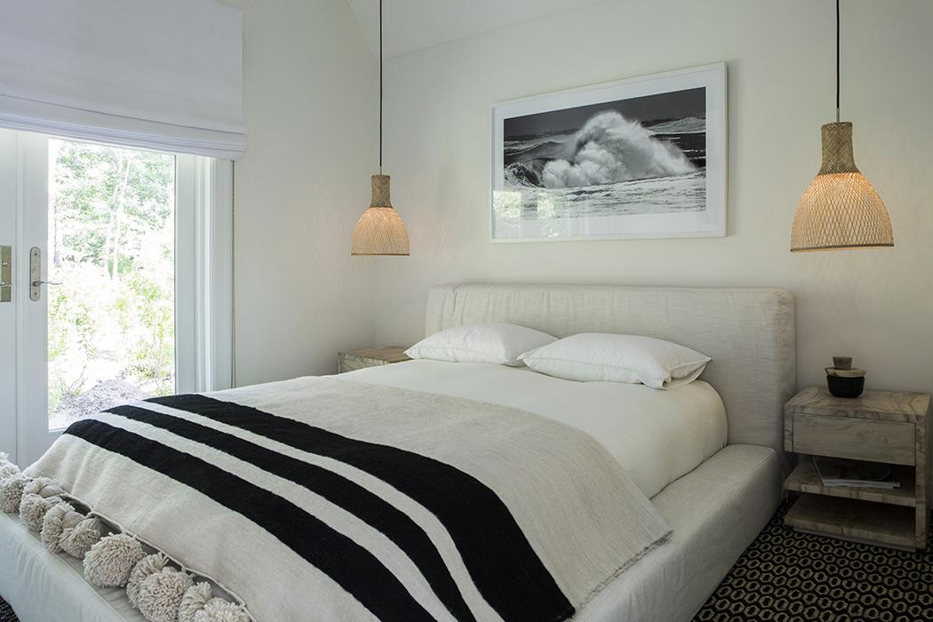 Pool house bedroom
