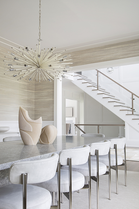 Watermill residence dining room and foyer
