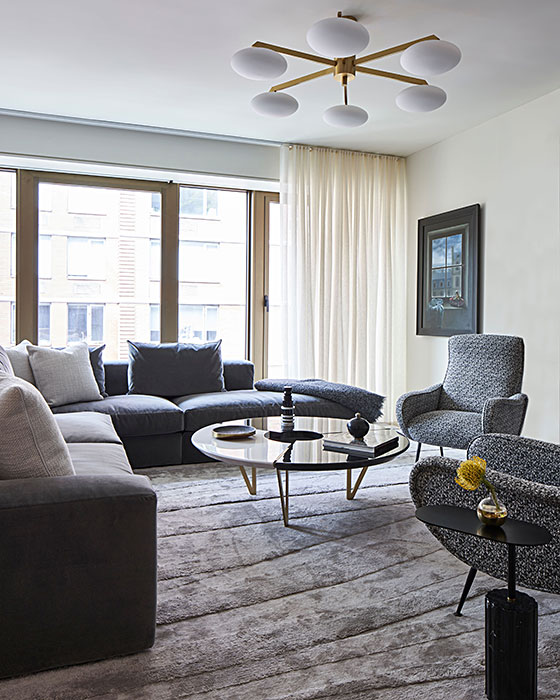Chelsea residence NYC living room design