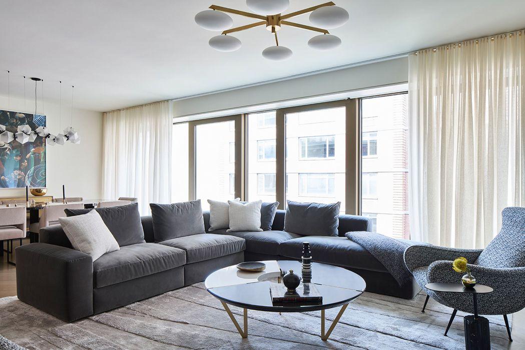 Chelsea residence living room design