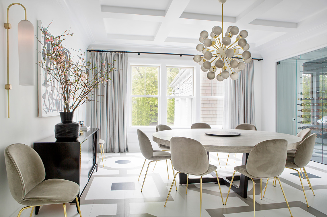 Hamptons Dining Room - Interior Design by Vanessa Rome